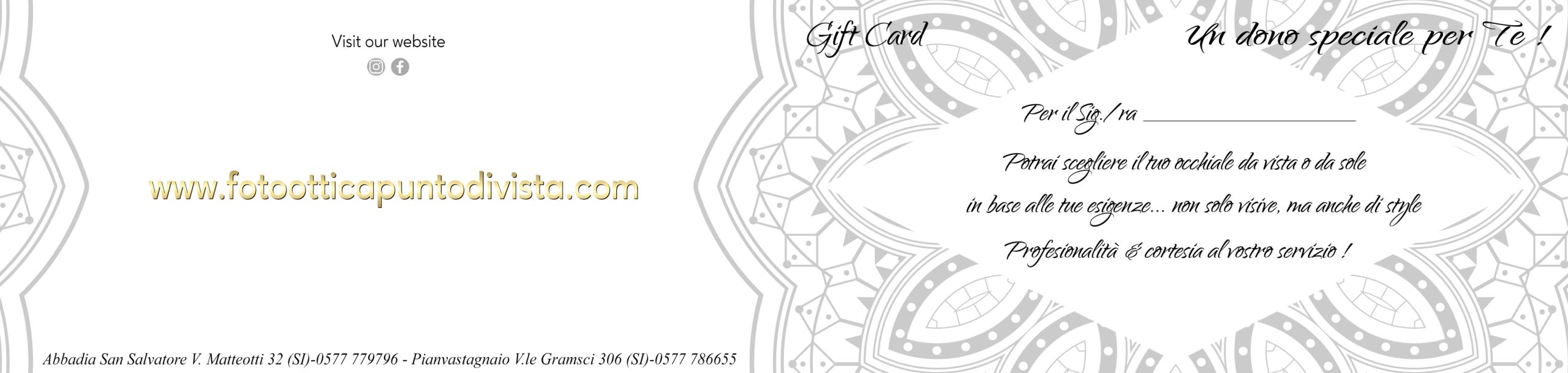 Gift-Card oro 2021